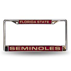 NCAA Red Laser-Cut Chrome License Plate Frame - Florida State