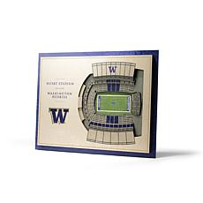 NCAA Washington Huskies StadiumViews 3-D Wall Art - Husky Stadium