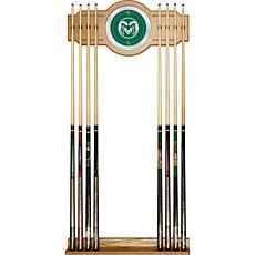 NCAA Wood and Mirror Wall Cue Rack - Colorado State