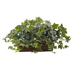 "Nearly Natural 12.5"" Puff Ivy with Ledge Basket"
