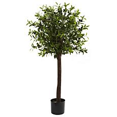 Nearly Natural 4 ft. Olive Topiary Tree with 1056 Leaves