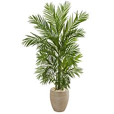 Nearly Natural 5 ft. Artificial Areca Palm Tree in Planter
