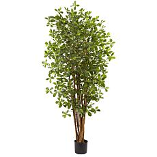 Nearly Natural 6 ft. Black Olive Tree with 940 Leaves