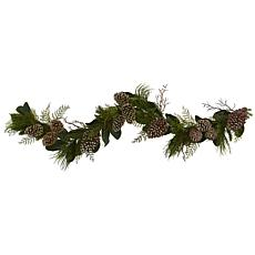 Nearly Natural 6-Ft. Pine Cone & Pine Artificial Garland