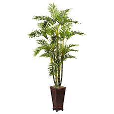 """Nearly Natural 6.5"""" Areca with Decorative Planter"""