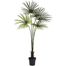 Nearly Natural 7 ft. UV Resistant Fan Palm Tree