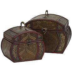 Nearly Natural Decorative Chests Set of 2
