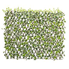 Nearly Natural English Ivy Expandable Fence UV-Resistant, Waterproof