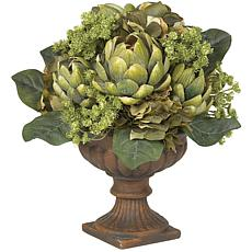 Nearly Natural Silk Artichoke Centerpiece Arrangement