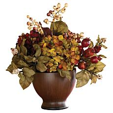 Nearly Natural Silk Autumn Hydrangea Arrangement
