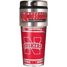 Nebraska Cornhuskers Travel Tumbler w/ Metallic Graphic