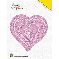 Nellie's Choice Multi Frame Dies - Heart 2