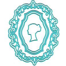 Nellie's Choice Vintasia Dies - Oval Frame with a Lady