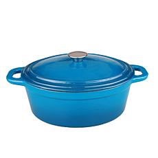 Neo 8-Quart Cast Iron Blue Oval Covered Casserole