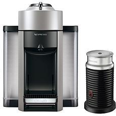 Nespresso Vertuo Silver Single-Serve Machine w/Aeroccino Frother