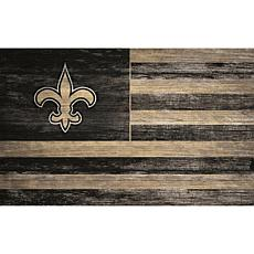 New Orleans Saints Distressed Flag 11x19