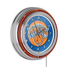 New York Knicks Double Ring Neon Clock