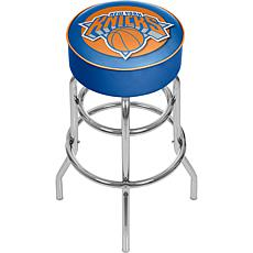 New York Knicks NBA Padded Swivel Bar Stool