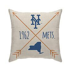"""New York Mets 18""""X18"""" Duck Cloth  Décor Pillow"""
