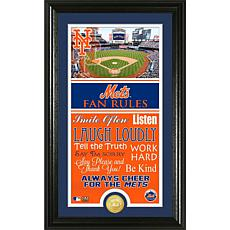 New York Mets Fan Rules Supreme Bronze Coin Photo Mint