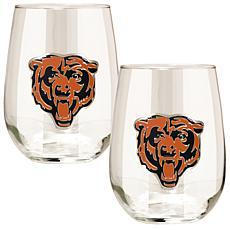 NFL 2-piece Wine Glass Set - Chicago Bears