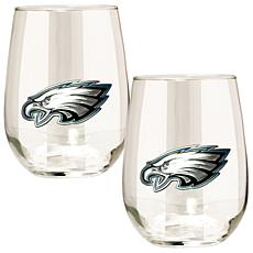 NFL 2-piece Wine Glass Set - Philadelphia Eagles