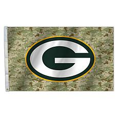 """NFL 3"""" x 5"""" Camo Flag - Packers"""