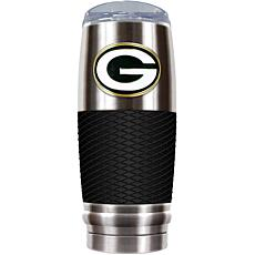 NFL 30 oz. Stainless/Black Reserve Tumbler - Packers