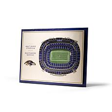 NFL Baltimore Ravens StadiumViews 3-D Wall Art - M&T Bank Stadium
