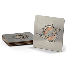 NFL Boasters 4-piece Coaster Set - Miami Dolphins