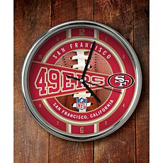 NFL Chrome Clock - 49ERS