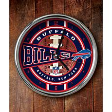 NFL Chrome Clock - Bills
