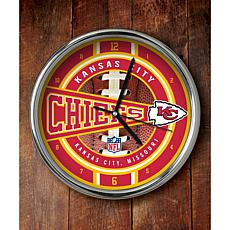 NFL Chrome Clock - Chiefs