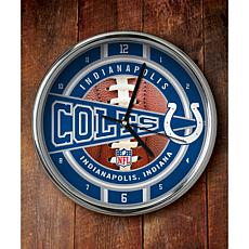 NFL Chrome Clock - Colts