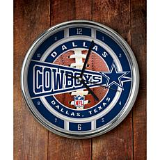 NFL Chrome Clock - Cowboys