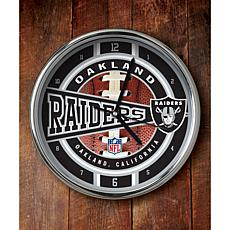 NFL Chrome Clock - Raiders