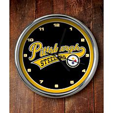 NFL Chrome Clock - Steelers