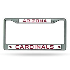 NFL Chrome License Plate Frame - Cardinals