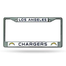 NFL Chrome License Plate Frame - Chargers