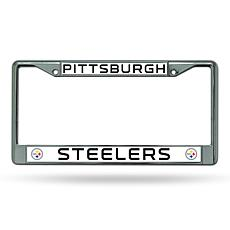 NFL Chrome License Plate Frame - Steelers