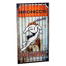 NFL Corrugated Metal Weathered Wall Sign - Broncos