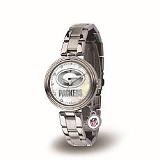 NFL Crystal Charm Watch - Green Bay Packers