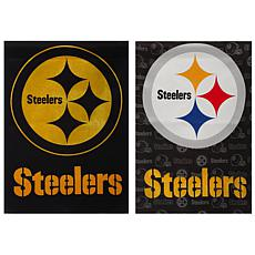 NFL Double-Sided Glitter Flag - Pittsburgh Steelers