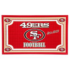 NFL Embossed Door Mat - 49ers