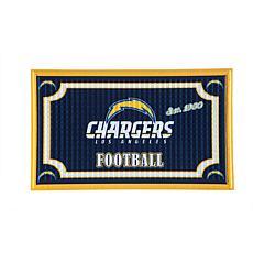 NFL Embossed Door Mat - Chargers