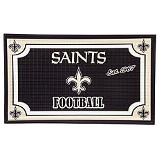 NFL Embossed Door Mat - Saints