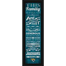 "NFL Family Cheer 24"" x 8"" Framed Print"