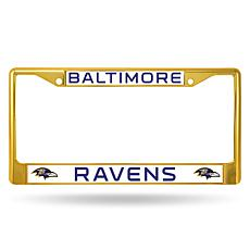 NFL Gold Chrome License Plate Frame - Ravens