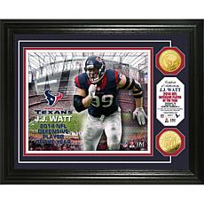 NFL Goldtone Limited Edition Photo Mint - J.J. Watt