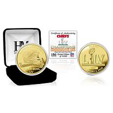 NFL Kansas City Chiefs Super Bowl LIV Champions Gold-Plated Coin
